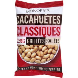 Monoprix Cacahuètes grillées et salées 250g