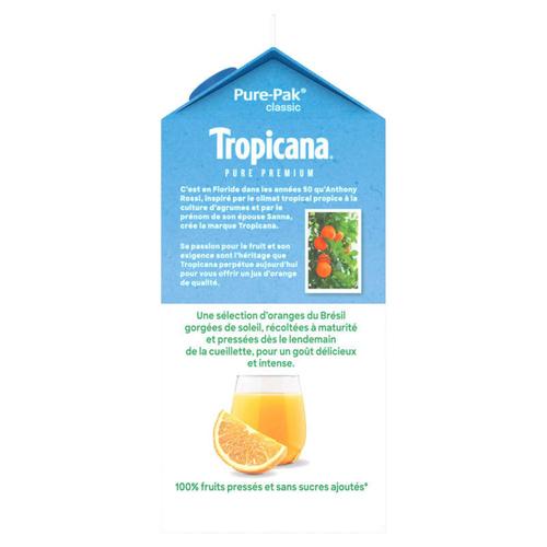 Tropicana Pur Jus d'Orange sans Pulpe la Bouteille de 1,5L