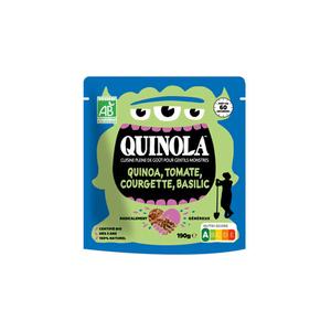 Quinola Kids Quinoa Mediterranéen Tomates Courgettes & Carottes Bio 190g