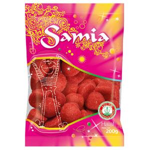 Samia Bonbons fraise kiss Halal 200g