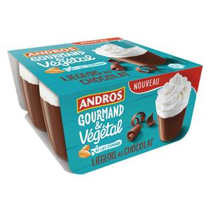 Andros Chocolat Liégeois Vegan Pots 4x90g