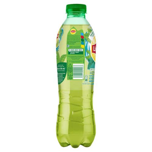 LIPTON Green Ice Tea Thé Glacé Saveur Citron Vert Menthe la Bouteille de 1L