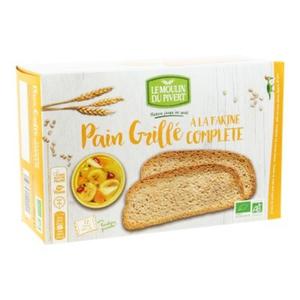[Par Naturalia] Moulin Du Pivert Pain Grillé À La Farine Complète Sans Sucres 250G Bio