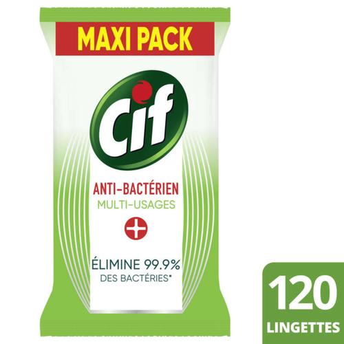 Cif Lingette Multi-Usage Antibactérien Paquet x120