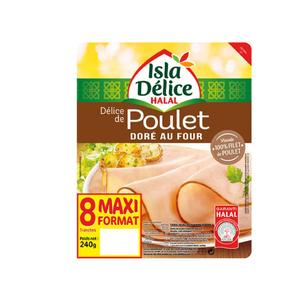 Isla Délice Délice poulet doré four halal 240g