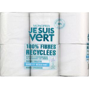 Monoprix Je Suis Vert Papier toilette double épaisseur x6