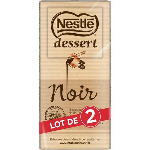 Nestle Dessert Chocolat Noir lot de 2 x 205g.