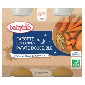 [Par Naturalia] Babybio Petits Pots Carotte et Patate Douce 6M 2x200g Bio