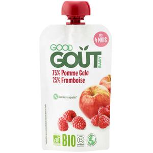 Good Goût Gourde Pomme Framboise Bio 120g