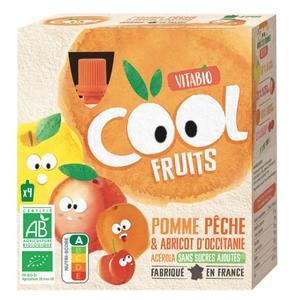 [Par Naturalia] Vitabio Cool Fruits Pomme Pêche Abricot & Acerola 4X90G Bio