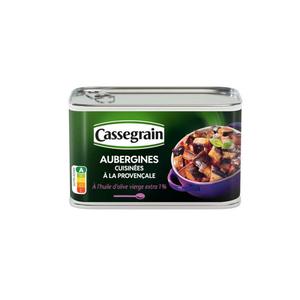 Cassegrain aubergines cuisinées à la provençale à l'huile d'olives extra vierge 375g.