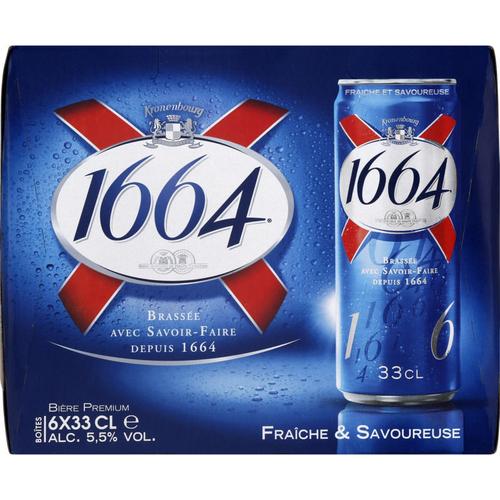 1664 Bière blonde 6 x 33cl