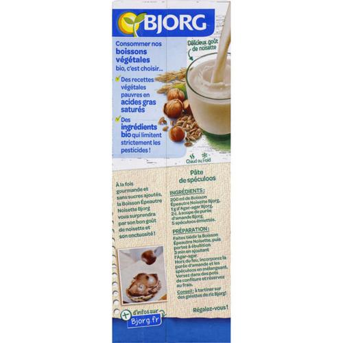 Bjorg Boisson épeautre noisette, sans sucres ajoutés, bio 1L.