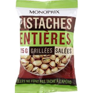 Monoprix Pistaches entières grillées salées 125g