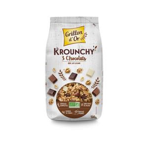 [Par Naturalia] Grillon D'Or Krounchy 3 Chocolats 500G Bio
