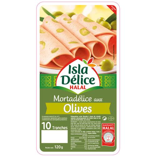 Isla Délice Mortadelice olives halal 120g