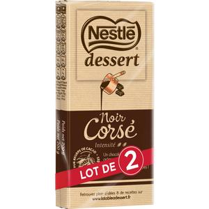 Nestle Dessert tablette Chocolat Noir Corsé 2x200g