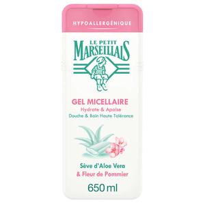 Le Petit Marseillais Gel micellaire hypoallergénique 650ml.