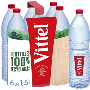 Vittel eau minérale naturelle pack 6x1,5 L