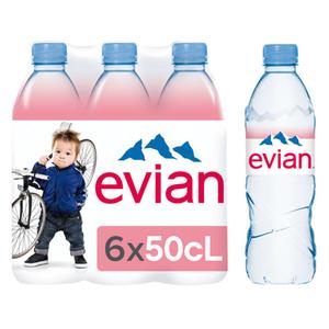 Evian eau minérale naturelle 6x50cl