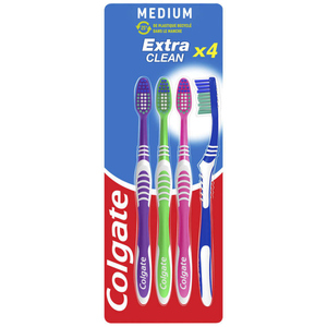 Colgate Extra Clean brosse à dents medium 4 unités