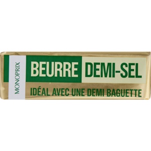 Monoprix beurre demi-sel 250g
