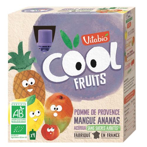 [Par Naturalia] Vitabio Cool Fruits Pomme Mangue Ananas 4X90G Bio