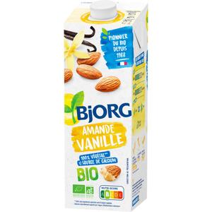 Bjorg Lait d'amande vanille, bio 1L.