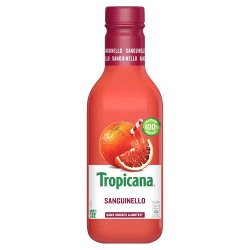 Tropicana Pur Jus Frais d'Orange Sanguinello la Bouteille de 90cl