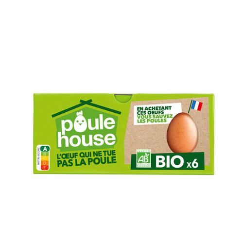 Poulehouse 6 oeufs BIO qui ne tuent pas la poule !