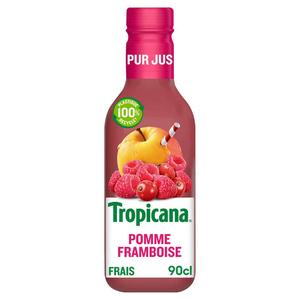Tropicana Pur Jus Frais Pomme Framboise 5 Fruits la Bouteille de 90cl