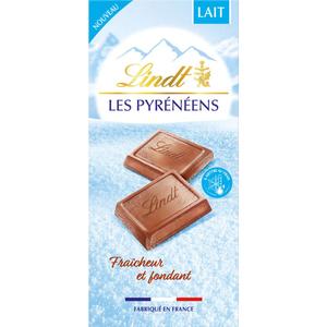 LINDT les Pyrénéens Chocolat au lait  la tablette 150g