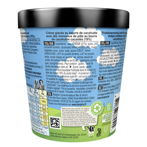 Ben & Jerry's Glace en Pot Peanut Butter Cup 465ml
