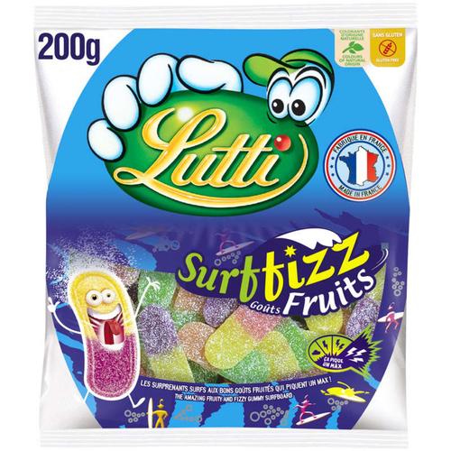 Lutti Bonbons Surffizz Goûts Fruits, Extra Acide 200G