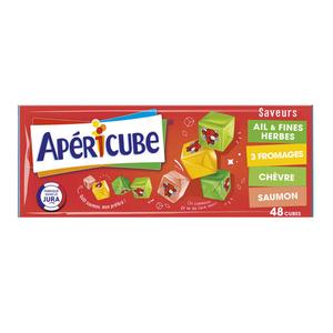 Apéricube 48 Cubes Saveurs Ail & Fines Herbes 3 Fromages Chèvre 250g