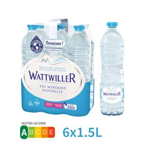 Wattwiller eau minérale le pack de 6x1,5L
