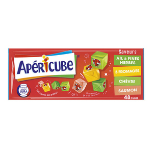 Apericube 48 Cubes Saveurs Ail & Fines Herbes 3 Fromages Chèvre 250g