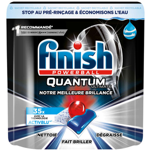 Finish Powerball Quantum Ultimate Tablettes lave-vaisselle x35 438g.