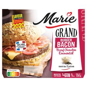 Marie Grand burger Bacon bœuf de race charolaise Emmental 220g