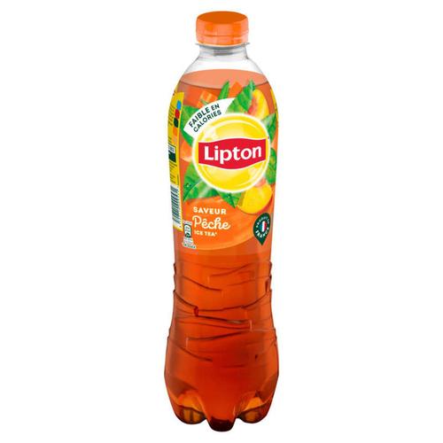 LIPTON Ice Tea Thé Glacé Saveur Pêche la Bouteille de 1L