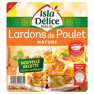 Isla Délice Lardons de Poulet Nature Halal 2x100g