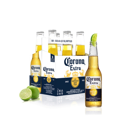 Corona bière extra blonde mexicaine 6x355ml.