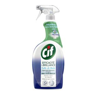 Cif Spray Nettoyant Efficacité & Brillance Salle de Bain 100% Naturel 750ml