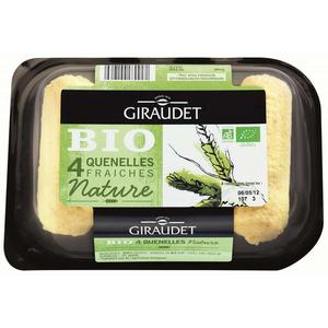 Giraudet Quenelles Fraîches de Brochet Nature Bio 4x80g.