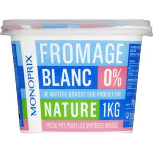 Monoprix fromage blanc 0% le pot de 1kg