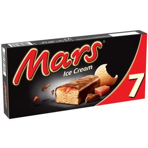 Mars Glace enrobage chocolat nappage caramel x7 357ml