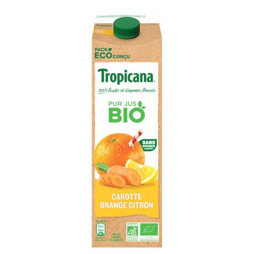 Tropicana Bio Jus de Carotte Orange & Citron 85cl