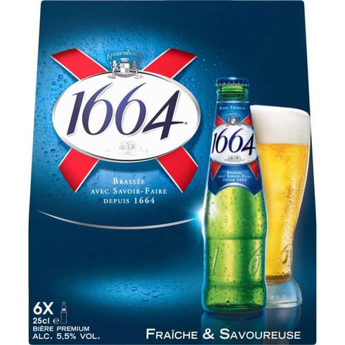 1664 Bière Blonde 6 x 25 cl