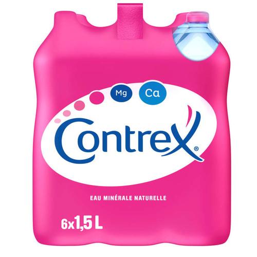Contrex eau minérale naturelle pack de 6x1,5L