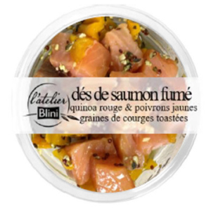 Atelier Blini Saumon Poivron Quinoa 115g